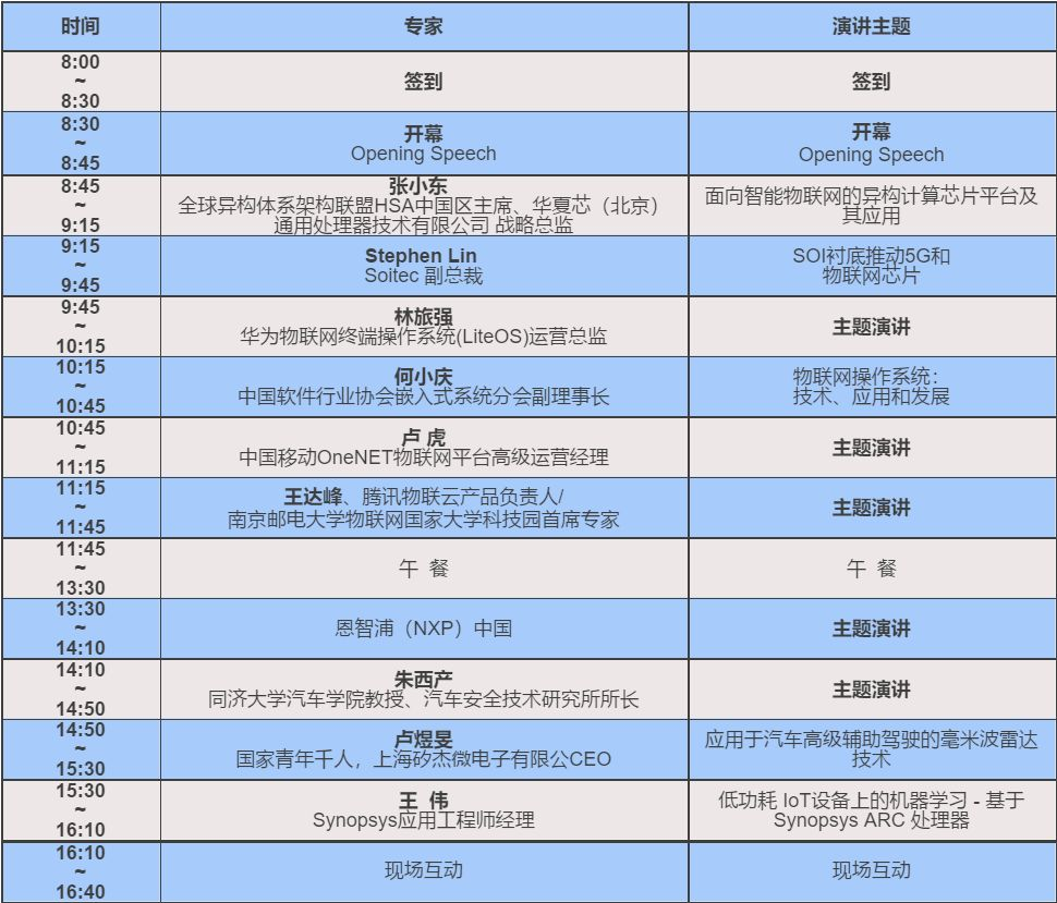 4.20 南京丨名家芯思维:2018年物联网技术和应用研讨会
