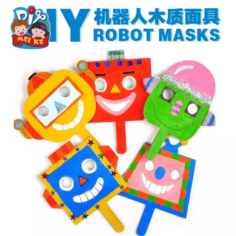 木质机器人面具制作过程