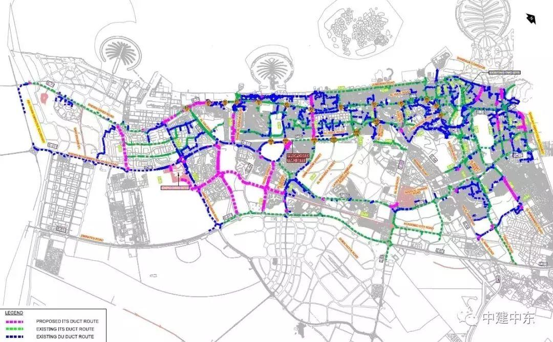 中建中东公司中标迪拜智能交通系统项目