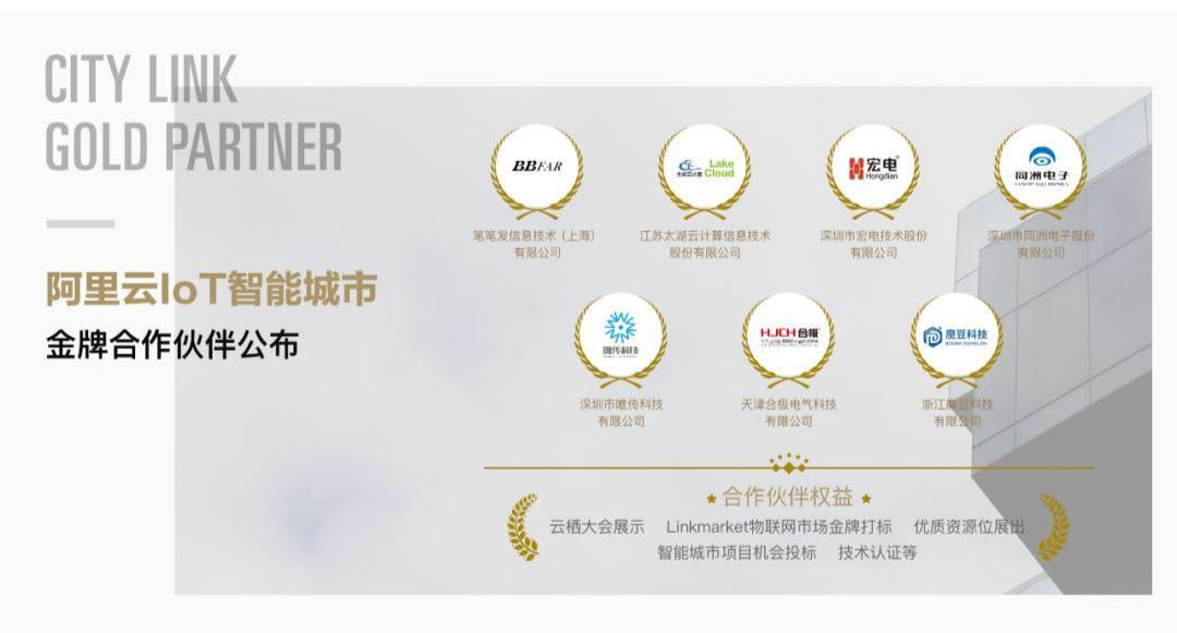 阿里云IoT智能城市第二期金牌合作伙伴名单公布