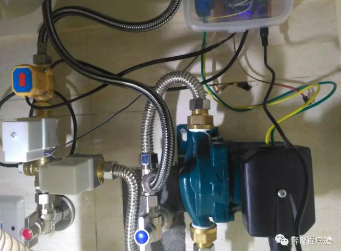 用#00温度传感器和水流传感器自制智能循环泵