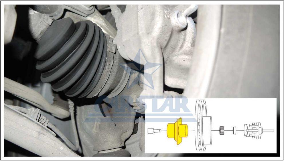 奔驰CL-CLASS 右前轮速传感器故障解决办法