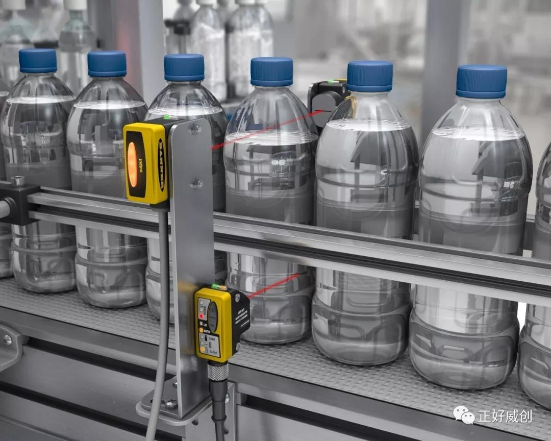 美国邦纳QS30#00H2O传感器非接触式透明液体液位水平检测优势
