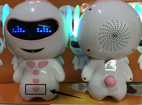小谷儿童机器人怎么对话?按这个按钮!