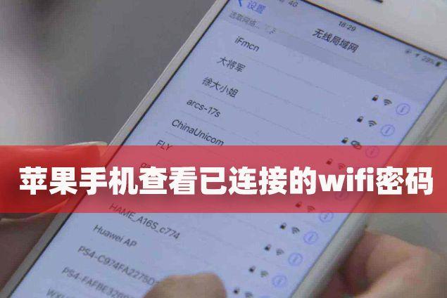 苹果如何查看wifi密码
