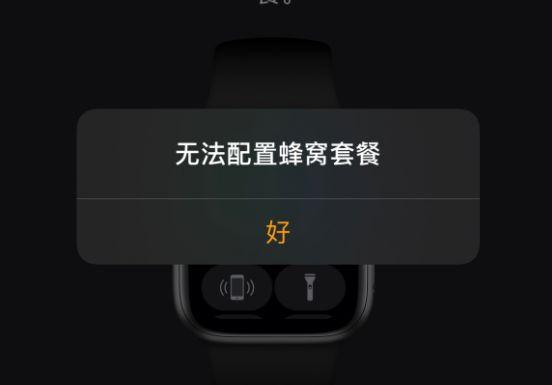 苹果手表6无法配置蜂窝套餐